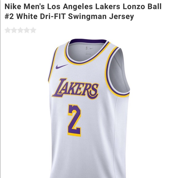 Nike Men s LA Lakers  2 Lonzo Ball Swingman Jersey afe9ad231
